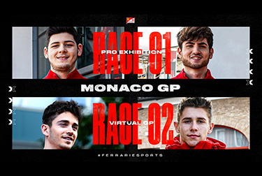 Ferrari FDA Hublot Esports Team field the Leclerc brothers in Virtual Monaco GP.