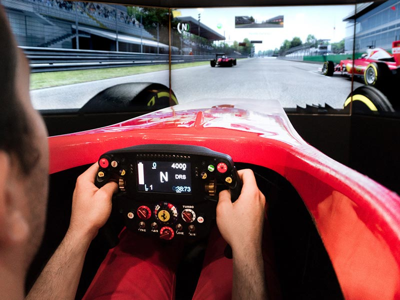 Two semi-professional simulators are available to give visitors a taste of the exhilaration of driving a Prancing Horse F1 single-seater during their time at the Ferrari Museum in Maranello.