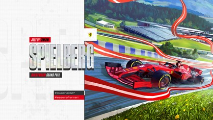 Ferrari Cover Art - 2020 Austrian GP by Matteo Spirito