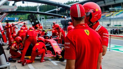 Ferrari team - Austrian GP 2020 - Thursday