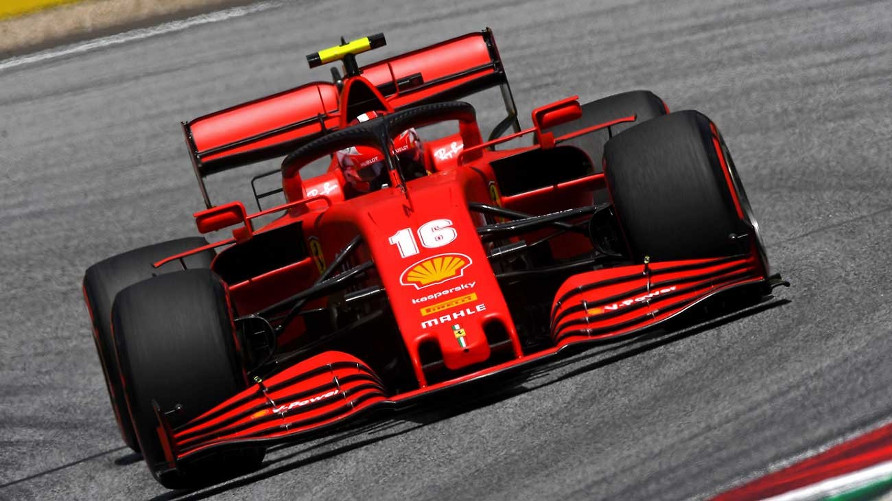 Ferrari Driver Charles Leclerc during 2020 Austrian GP Qualifying