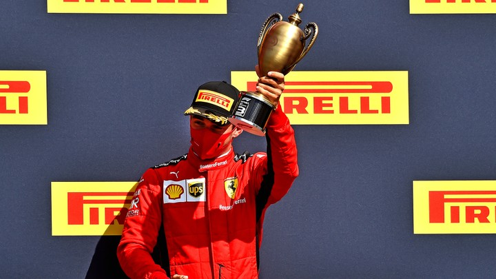 Charles Leclerc took his and Scuderia Ferrari's second podium finish of the season, coming home third.