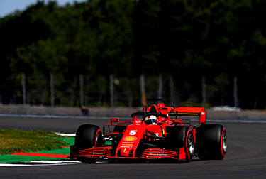 Charles Leclerc and Sebastian Vettel took to the track for the final hour of free practice for the Formula 1 70th Anniversary Grand Prix, with new power units fitted to both SF1000s.