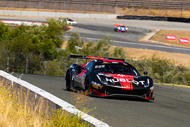 Ferrari came home with the overall victory in Saturday's opening round of the Showdown in the Golden State at Sonoma Raceway, with the Squadra Corse duo of Martin Fuentes and Rodrigo Baptista winning the fifth SRO GT World Challenge America race of the season.