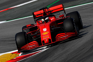 Charles Leclerc and Sebastian Vettel were fourth and fifth respectively at the end of the first free practice session for the Spanish Grand Prix at the Barcelona-Catalunya Circuit.