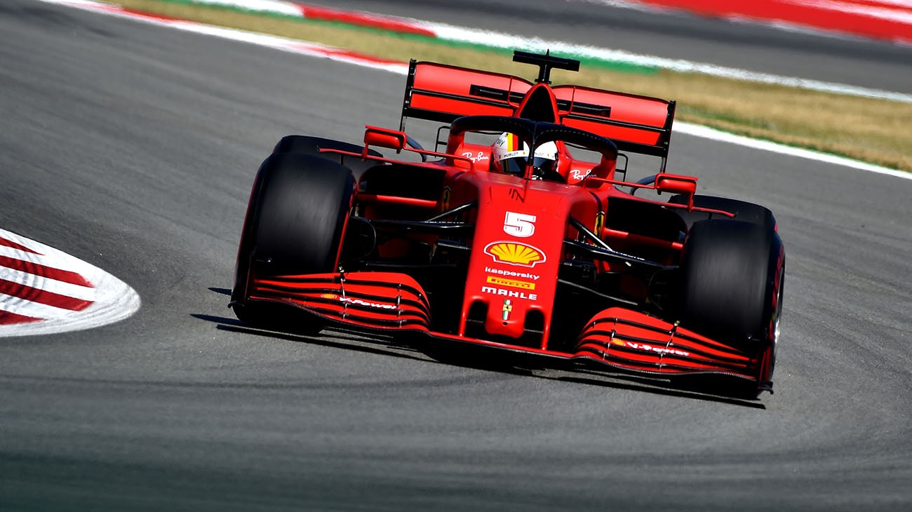 Charles Leclerc and Sebastian Vettel were sixth and twelfth fastest in the third and final free practice session for the Spanish Grand Prix.