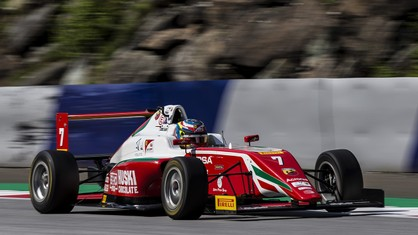 Dino Beganovic continued to showcase front-running pace in the Italian Formula 4 Championship in round three of the season at Spielberg, bagging another top five finish.