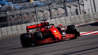 At the end of the first free practice session, the Scuderia Ferrari SF1000s were ninth with Sebastian Vettel and eleventh with Charles Leclerc.