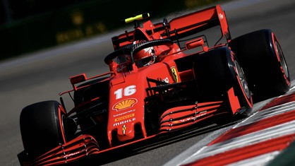 Charles Leclerc and Sebastian Vettel completed a total of 35 laps of the Sochi Autodrom in their SF1000s in the second free practice session for the Russian Grand Prix.