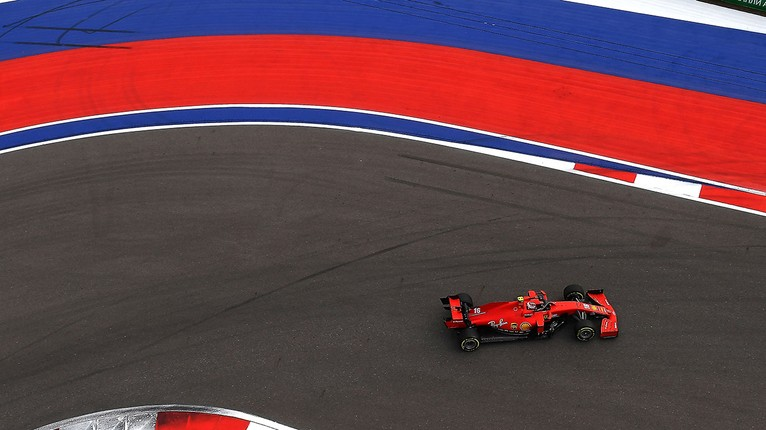 Russian Grand Prix Charles Eleventh Seb In The Barrier