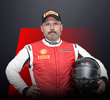 Mark Davies, driver in Ferrari Challenge NA - United Kingdom.