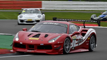 The Ferrari of SB Race Engineering stayed on top of the Britcar Endurance standings after the two races at Silverstone, with two third places overall and two runner-up positions in class 2.