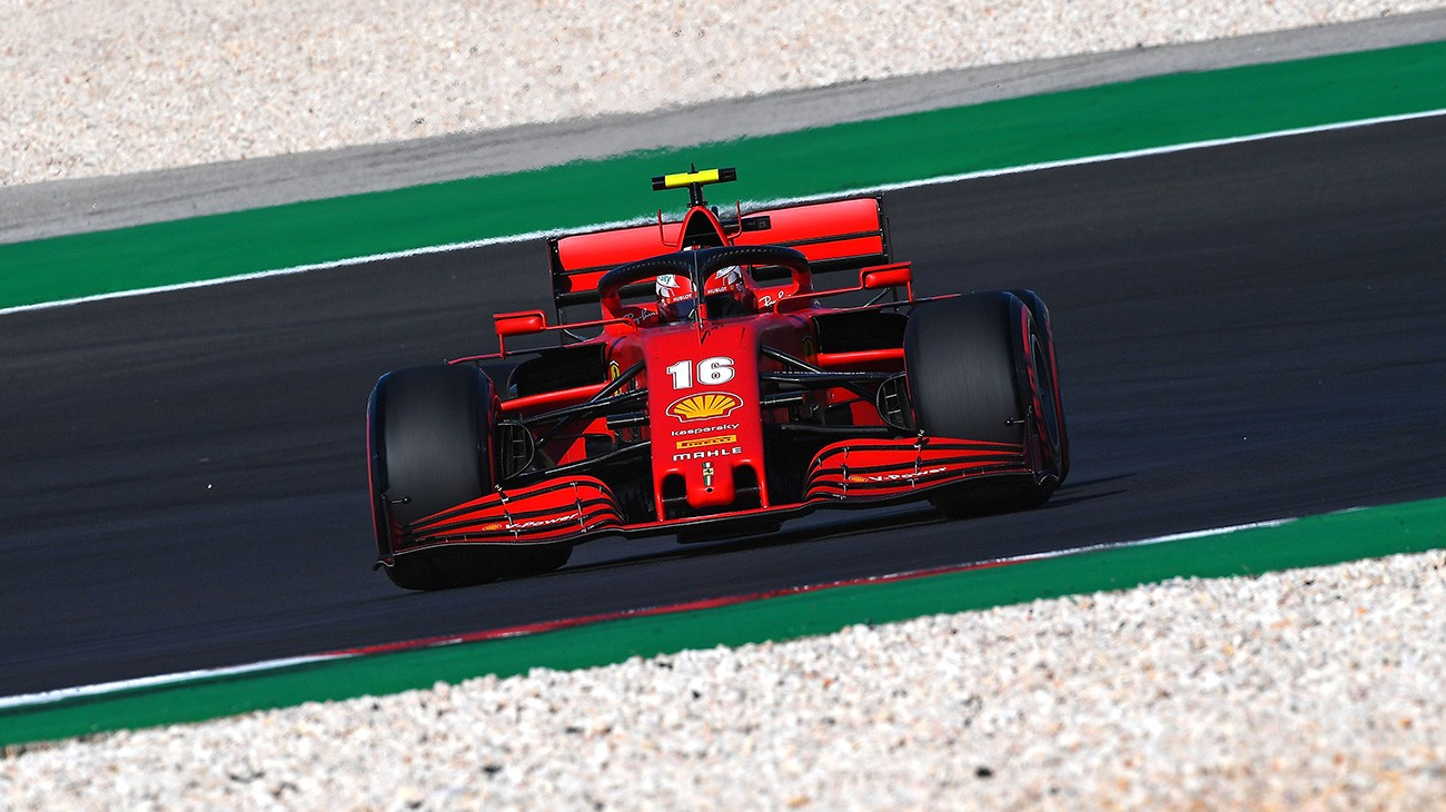 Portuguese Grand Prix Qualifying Charles On Second Row Seb 15th