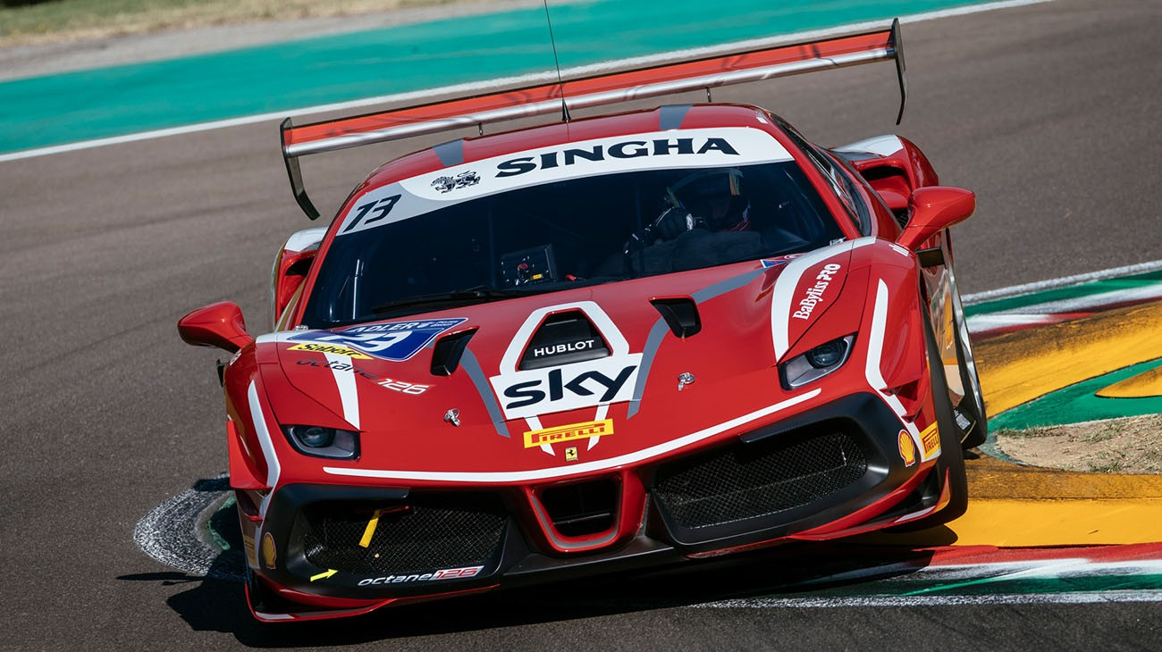 Ferrari Challenge Europe Ziemian S First Track Outing