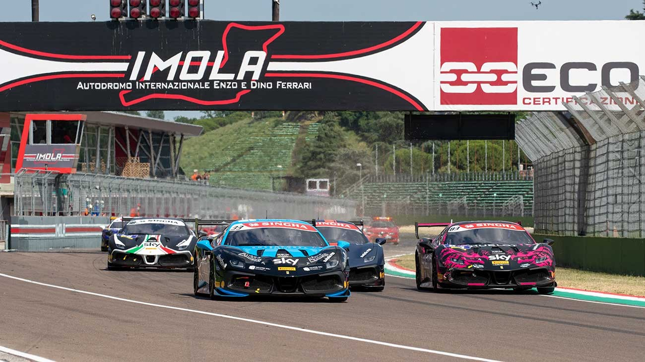 Tabacchi And Grouwels On Top Step Of Podium At Imola