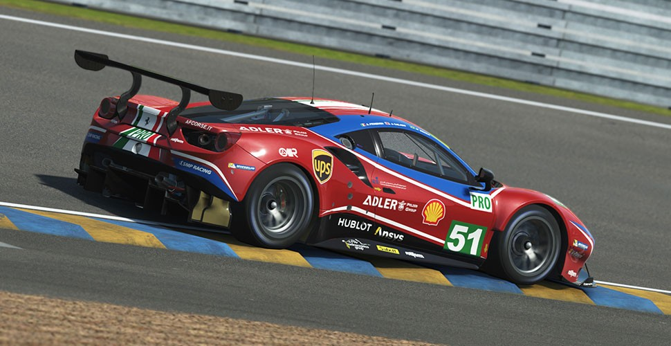 Ferrari On Track In First Virtual Free Practice At Le Mans