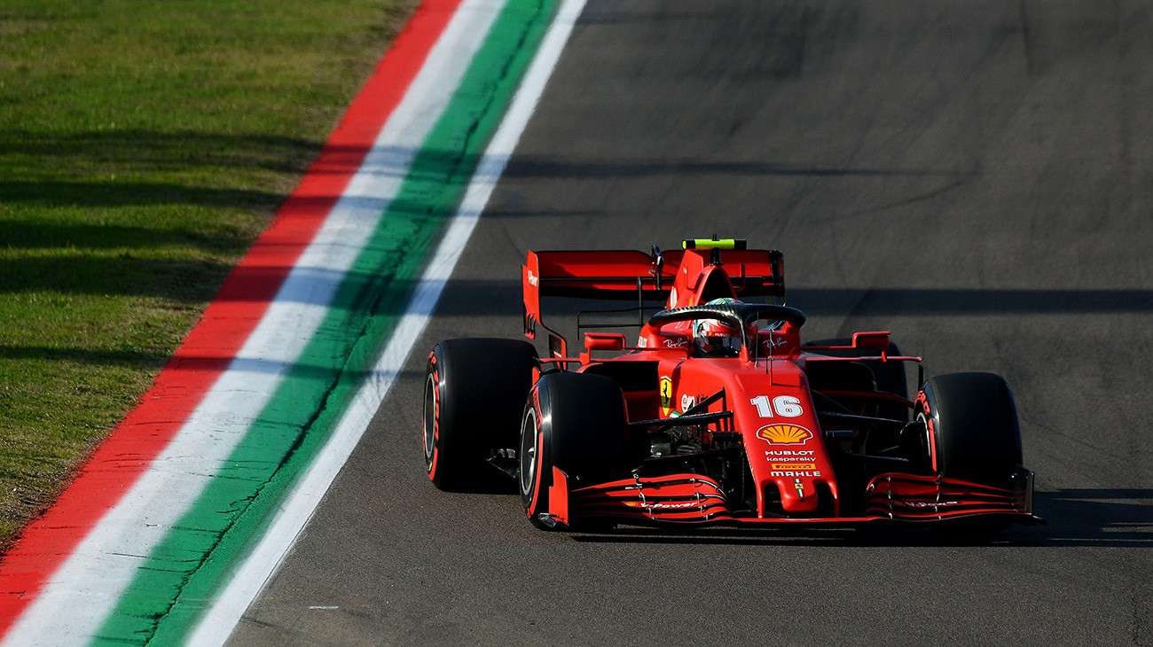 Charles Leclerc and Sebastian Vettel will start the first Emilia Romagna Grand Prix from the fourth and seventh rows respectively, when the race starts tomorrow at 13.10 at Imola's Autodromo Enzo e Dino Ferrari.