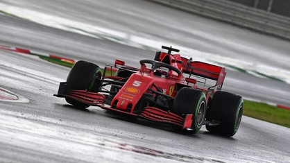 Turkish Grand Prix - Seb on the podium in third with Charles on his tail