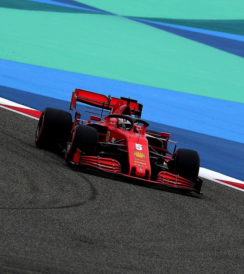 Sebastian Vettel and Charles Leclerc completed 29 laps between them during the final free practice session hour prior to the Bahrain Grand Prix qualifying session which starts at 17 local (15 CET.)