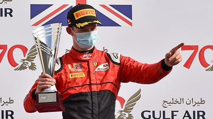 Callum Ilott (UNI-Virtuosi Racing) finished second in today's Formula 2 Feature Race in Bahrain.
