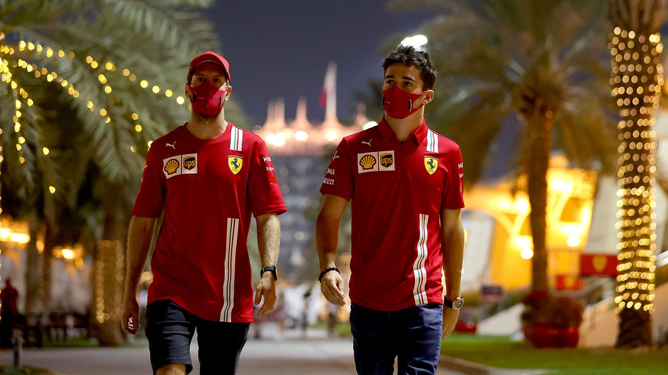 By the time Charles Leclerc and Sebastian Vettel left the FIA press conference area, the moon was already high in the sky over the Bahrain International Circuit.