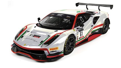 AF Corse is preparing to race in the GT World Challenge America powered by AWS with Jean-Claude Saada and Conrad Grunewald in their Ferrari 488 GT3 EVO 2020 No. 61.