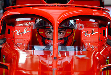 At 9.30 the shutters rolled up on the pit garage at the Fiorano track and a minute later Carlos Sainz was out for his first lap at the wheel of a Ferrari Formula 1 car.