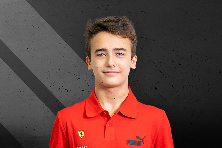 Ferrari Driver Academy Team: Dino Beganovic was born on 19 January 2004 in Landeryd, Sweden.