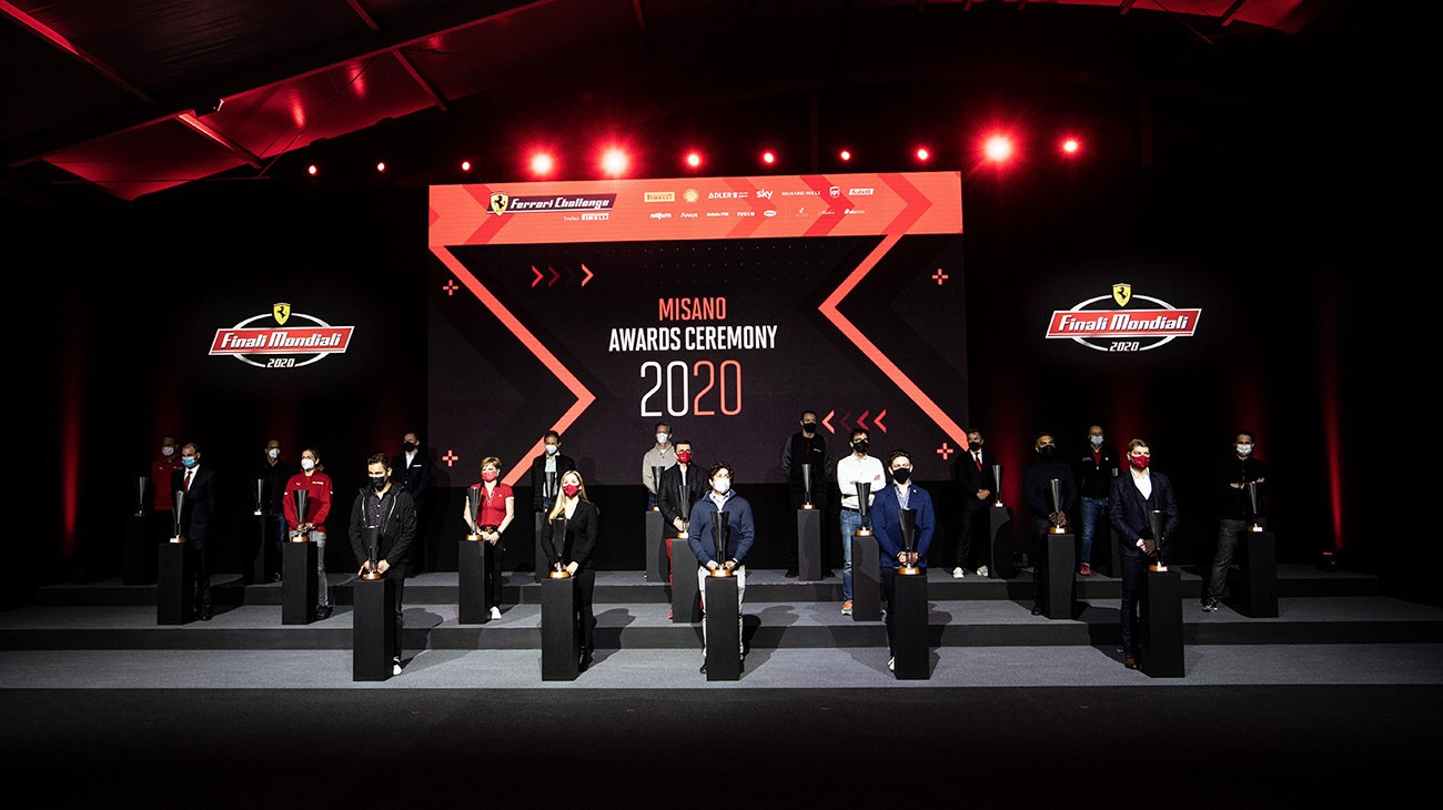 The awards ceremony for the winners of the European and North American series of the Ferrari Challenge took place on Saturday evening after the victors were decided in the final round of the season at the Misano World Circuit Marco Simoncelli.