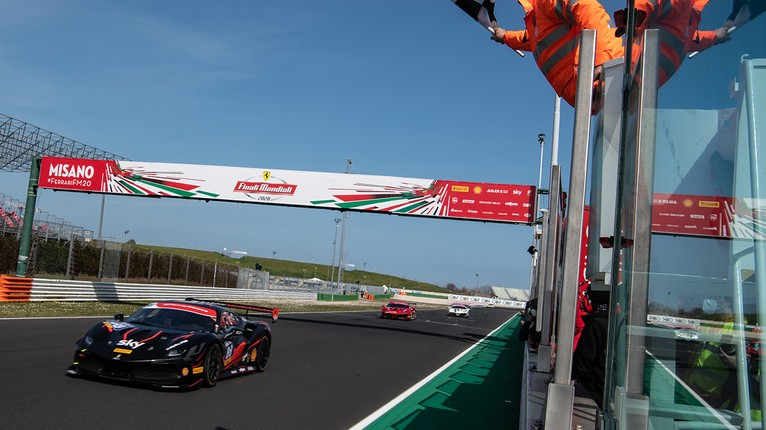 Merckx Sikkens Grouwels And Simoncic 2020 Ferrari Challenge World Champions