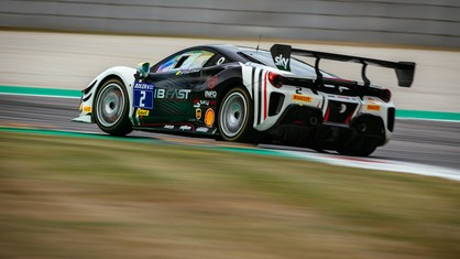 French driver Ange Barde from the SF Grand Est & Côte d'Azur team, attained fourth overall place and first place in Trofeo Pirelli Am class, on his return to the Challenge after a thirteen year absence.